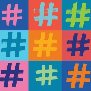 holiday social meedia hashtags
